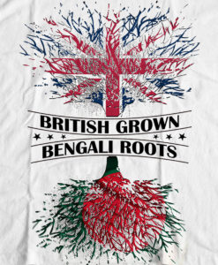 Bengali T-Shirt Company - BTCPAT0001 British Grown Bangladeshi Roots DESIGN