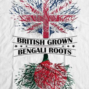 Bengali T-Shirt Company - BTCPAT0001 British Grown Bangladeshi Roots DESIGN