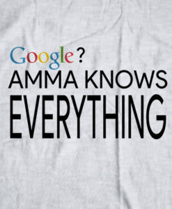 The Bengali T-Shirt Company - AMMA Knows Everything - DESIGN