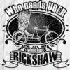 Bengali T-Shirt Company - Who Needs UBER When I Got Rickshaw CLOSE UP DESIGN