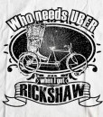 Bengali T-Shirt Company - Who Needs UBER When I Got Rickshaw CLOSE UP DESIGN