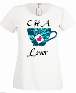 Bengali T-Shirt Company - BTCWFS0003 Cha Lover DESIGN Womens