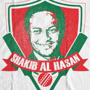 Bengali T-Shirt Company - BTCSPT0002 Shakib Al Hasan Cricket DESIGN