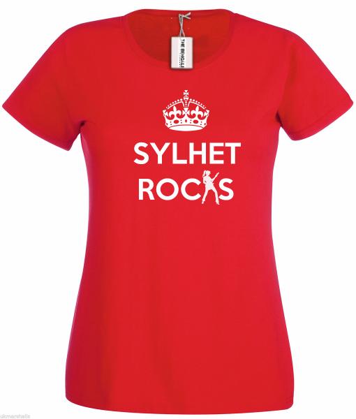 Bengali T-Shirt Company - BTCWFS0004 SYLHET Rocks Womens
