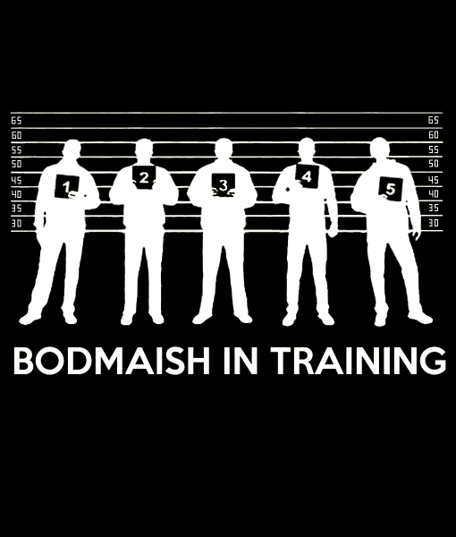 Bengali T-Shirt Company - BTCFUN0015 Bodmaish In Training Black DESIGN