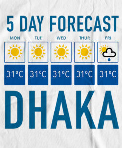 The Bengali T-Shirt Company - 5 Forecast Dhaka - DESIGN