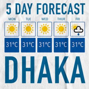 The Bengali T-Shirt Company - 5 Forecast Dhaka - DESIGN